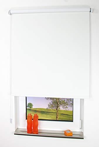 Liedeco Verdunklungsrollo, 62x180cm, unifarben, Schwarz, weiß, 122 X 180 cm