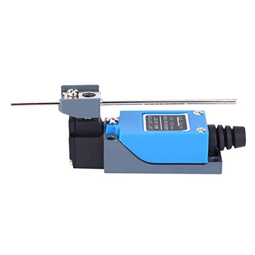Interruptores eléctricos de microinterruptor de límite, ME-8107 Mini interruptor de límite de palanca giratoria 250VAC 5A Microinterruptor 5.1 x 1.1 x 0.9in