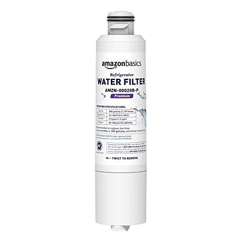 AmazonBasics Replacement Samsung DA29-00020B Refrigerator Water Filter Cartridge - Pack of 2, Premium Filtration