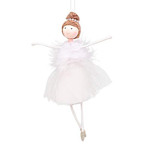 Christmas Net Yarn Plush Bailarina Girl Modelado muñeca Colgante decoración del árbol de Navidad pequeños Accesorios Colgantes