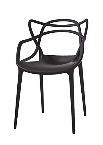 Kartell Masters Chair, Pack of 4, Black
