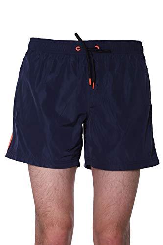 Sundek M552BDM600-576 Boardshort Elastic Waist Heat Transfer Pocket bay Blue Boxershorts für Herren, Schwarz XXL