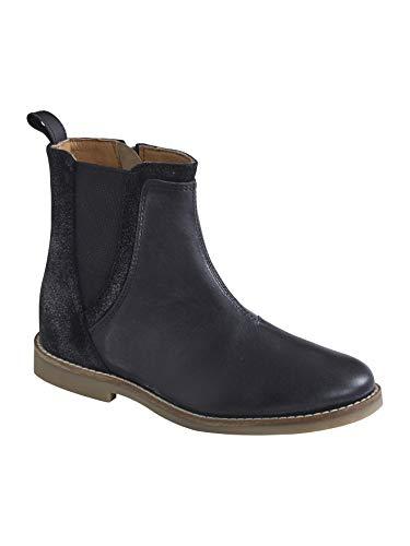 Vertbaudet Stiefel aus Leder für Mädchen, Schwarz - Schwarz - Größe: 24 EU