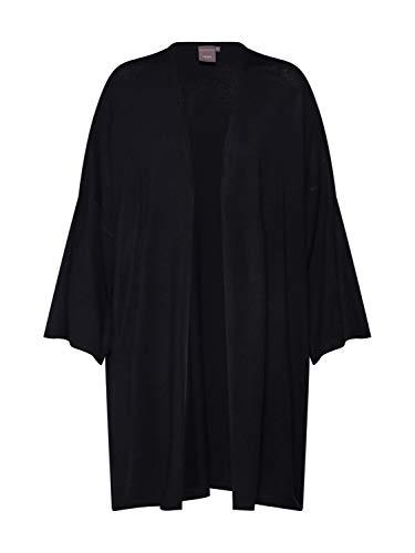 ICHI Damen Ihmafa Ca2 Strickjacke, Schwarz (Black 10001), 38 (Herstellergröße: M/L)