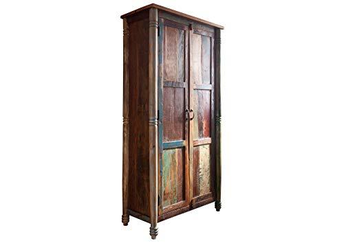 MASSIVMOEBEL24.DE Vintage Altholz Massivholz Möbel Schrank Massivmöbel lackiert Mehrfarbig massiv Holz Fable #12