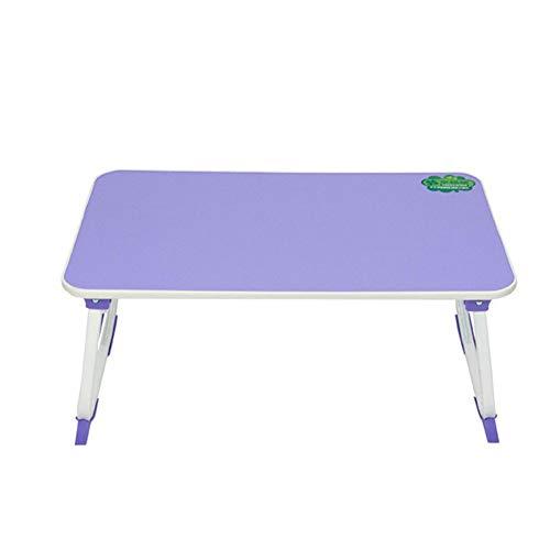 Eenvoudige Bed Computer Desk, opvouwbaar en Handig, omgekeerde U-vormige poten, stevige en stabiele, Lazy schrijftafel, meerdere kleuren,Purple