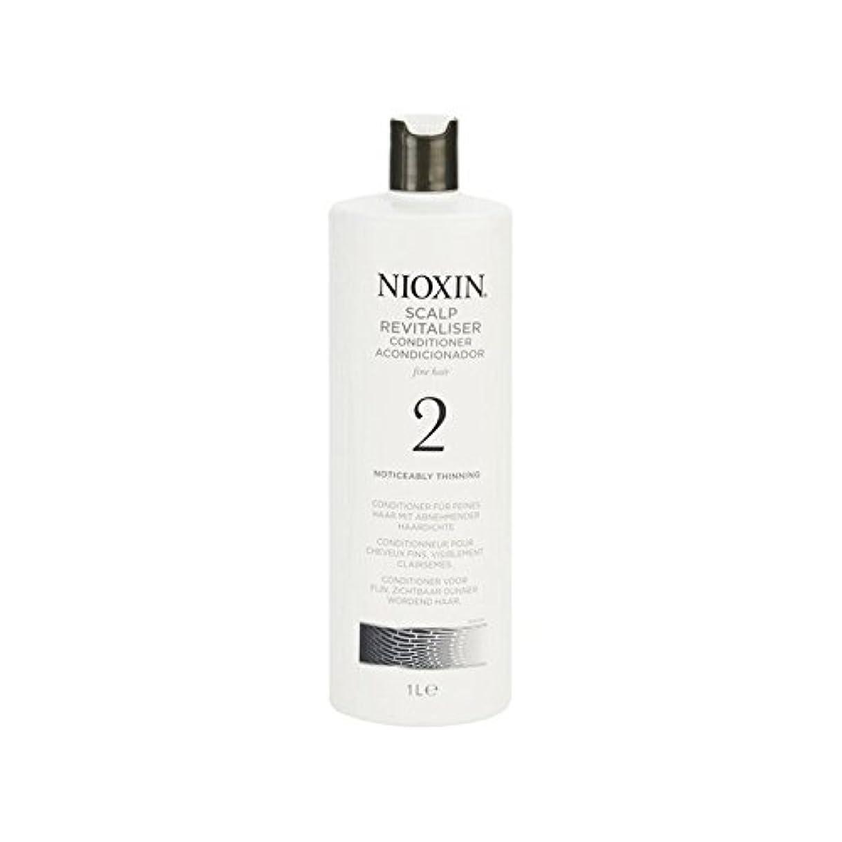 煩わしいねばねば子音Nioxin System 2 Scalp Revitaliser Conditioner For Noticeably Thinning Natural Hair 1000ml (Pack of 6) - 著しく間伐自然な髪千ミリリットルのためのニオキシンシステム2頭皮コンディショナー x6 [並行輸入品]