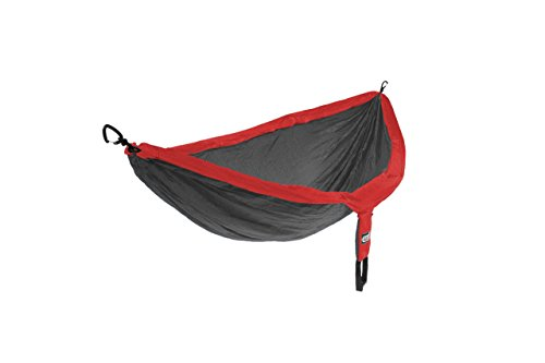 ENO, Eagles Nest Outfitters DoubleNest Lightweight Camping Hammock, 1 to 2 Person, Red/Charcoal