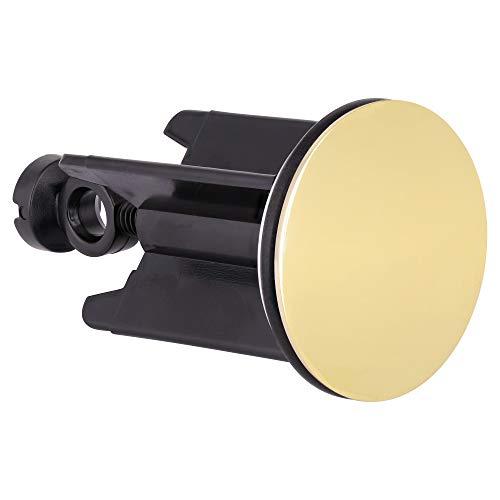 Drains Sanitär edler Waschbeckenstöpsel 40 mm mit 999er Feingold Vergoldung - Luxuriöser Stopfen für Waschbecken, Bidet und Waschtisch - Hartvergoldeter Abflussstoepsel fürs Badezimmer