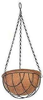 COIR GARDEN Coir Hanging Round Basket 10 INCH 1 Piece - Coco Gardening POTS with Stand - Flower POTS Hanger Garden Decorat...