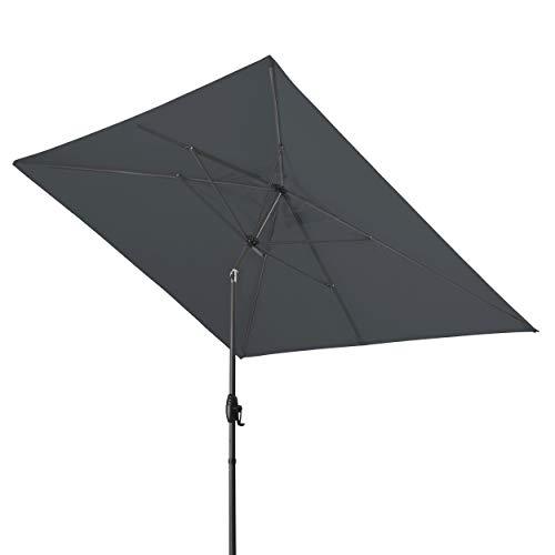 Derby Basic Lift NEO 250x200 – Rechteckiger Sonnenschirm – Höhenverstellbar – ca. 250x200 cm – Anthrazit