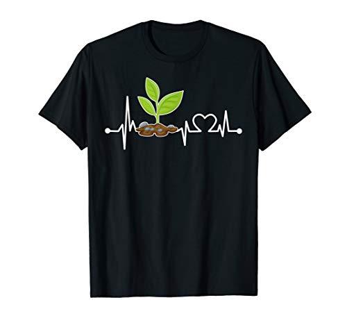 Flant Herzschlag Hemd Lustig Gärtner/Garten/Gartenarbeit T-Shirt