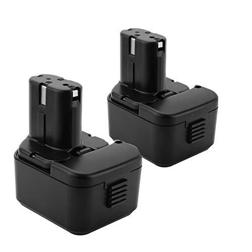 Lotive 2 Packs 3000mAh Ni-MH 12V Battery Compatible with Hitachi EB1214S EB1212S EB1220HS EB1214L EB1220BL EB1222HL EB1226HL EB1230HL BCC1212