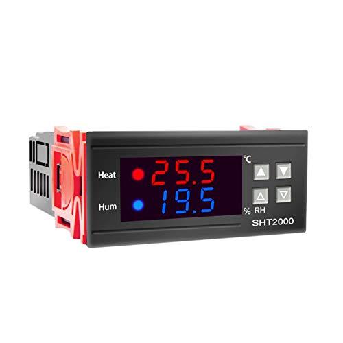 TTBD SHT2000 Controlador de Temperatura y Humedad Termostato Humidistato Incubadora de Cerveza para Interiores TermóMetro HigróMetro AC110-230V