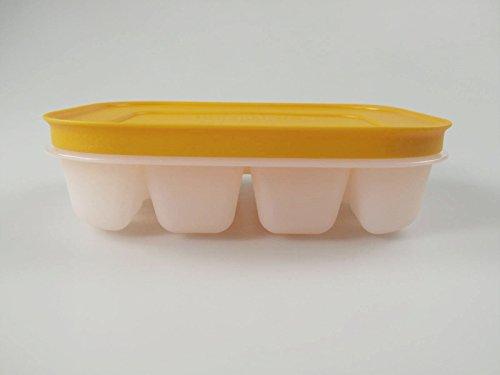 TUPPERWARE Gefrier-Behälter Eiswürfler orange mit Deckel mini Eiswürfel Eis 15467