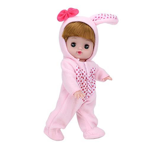 Realistische weiche Körper-Babypuppe, elektrisches Lach- und Schrei-Puppenspielzeug für Kinder mit Flasche, 3D-Simulationsauge, Schlafen und Schnarchen, für Mädchen und Jungen ab 3 Jahren, Pink(1#)
