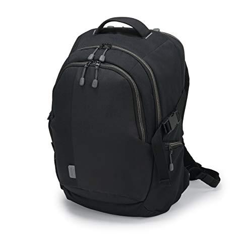 Dicota Backpack Eco 14-15,6 - Mochila Ligera para portátil con Funda Impermeable, Acolchado de protección, Funda de portátil extraíble y Amplio Espacio de Almacenamiento, Negro