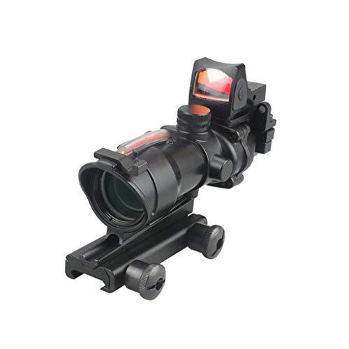 AJDGL Optisches Zielfernrohr 4x32-Zielfernrohr True Fibre Red Illuminated Crosshair Reticle-Zielfernrohre mit holographischem 20-mm-Visier für die Schienenmontage