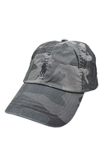 Polo Ralph Lauren Herren-Baseballkappe, Grau / Camouflage