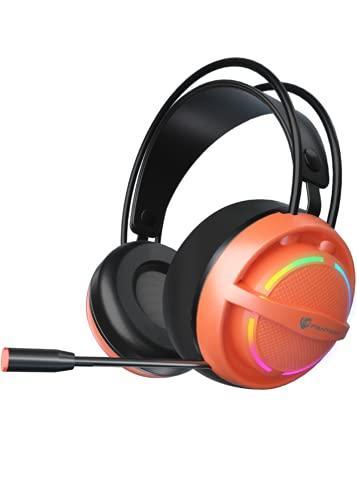 ZXING Auriculares estéreo para juegos con cable de 7.1 canales con micrófono de reducción de ruido compatible con controladores de PC, PS4, PS5, Xbox One (requiere adaptador)