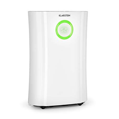 Klarstein DryFy Pro Connect Luftentfeuchter Dehumidifier Kompressionsluftentfeuchter, integrierter Luftreiniger mit Filter, Ionisator und UV-Funktion, WiFi-Schnittstelle, 370 W Leistung, weiß