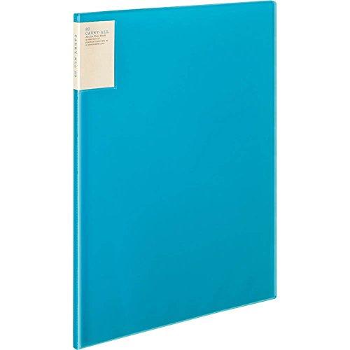 コクヨ ファイル クリアファイル キャリーオール 固定式 背ポケット B4 20ポケット 青 ラ-5824B