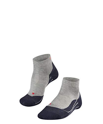 FALKE Damen, Laufsocken RU4 Short Baumwollmischung, 1 er Pack, Grau (Light Grey 3406), Größe: 39-40