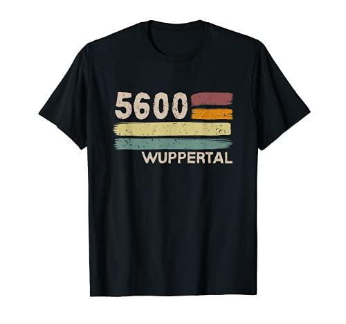 5600 Wuppertal Retro Postleitzahlen Alte PLZ Vintage T-Shirt