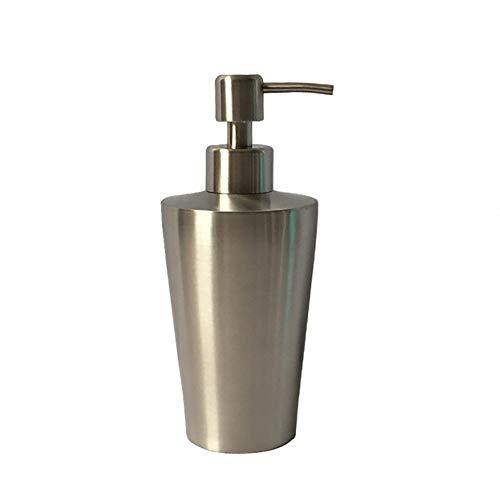 GBSIER Dispensador de jabón baño - Dosificador Jabon Cocina de Acero Inoxidable Botella Accesorios de Baño,B,350ML