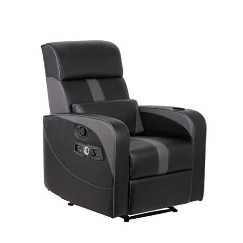 X Rocker, 718001, 2.1 Bluetooth Gamma Gaming Recliner, 34.84' x 30.31' x 39.37', Black
