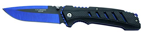HERBERTZ 577512 couteau fermant Mixte Adulte, Bleu/Noir, manche 12 cm