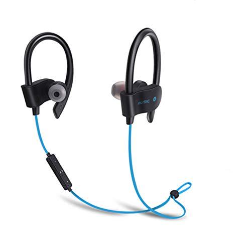 Wsaman Auriculares In-Ear, Auriculares Bluetooth 5.0 Impermeable con Cancelación Activa de Ruido para Teléfono Celular/Running, Auriculares Bluetooth Deportivos,Azul
