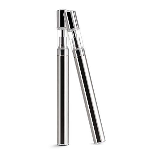 Vaporizzatore a penna vape CBD per sigaretta elettronica con batteria da 350 mAh e serbatoio ricaricabile da 0,5 ml e borsa per il trasporto, senza nicotina e liquido (2 pezzi)