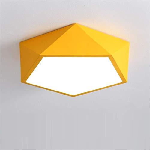 Thumby Plafondlamp Plafondlampen Geel Eenvoudige Moderne Moderne Moderne Geometrische Slaapkamer Lamp Woonkamer Restaurant Studie Kamer Lamp Creatieve Vreemde Led Aisle Licht