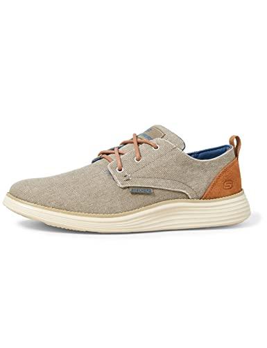 Skechers Men's Status 2.0 PEXTON Boat Shoes, Grey (Taupe Canvas TPE), 9 (43 EU)