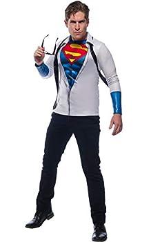 Rubie s Men s DC Comics Photo Real Superman/Clark Kent Costume Top As Shown Extra-Large
