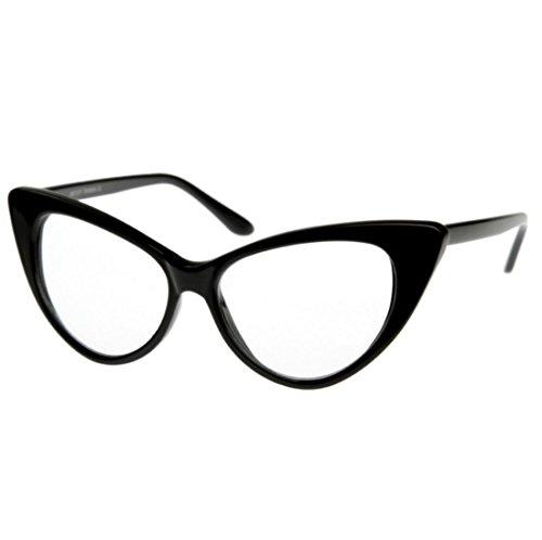 Gafas originales y unisex, gafas retro con estilo vintage con ojo estilo gato, lentes transparentes