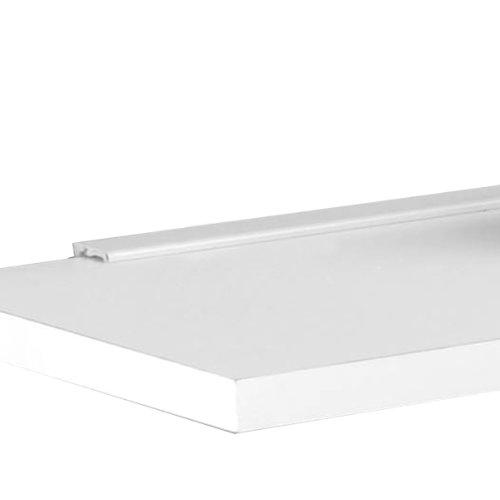 Mind Reader 4 Shelf Metal All Purpose Heavy Duty Adjustable Shelving Unit, Silver
