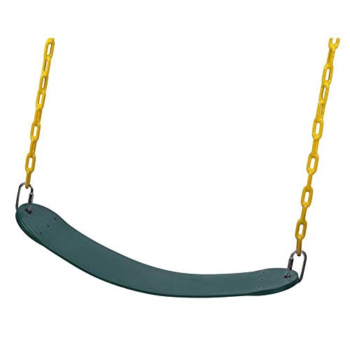 Hot Wing Cinturón flexible para columpio de árbol de jardín, cadena de hierro galvanizado para niños y adultos al aire libre, resistente