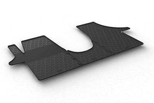 Gledring Set tapis de caoutchouc compatible avec Volkswagen Transporter T5 2003-2015 & T6 2015-2020 (TK profil 3-pièces)