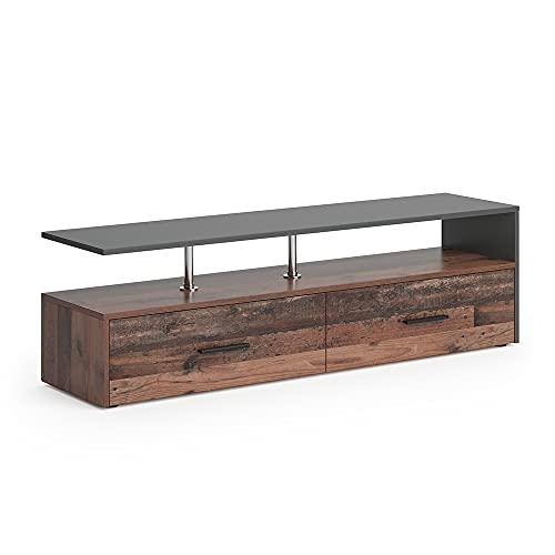 Vicco Lowboard Sideboard Fernsehtisch Amato Kommode Schrank Anthrazit Old Sytle