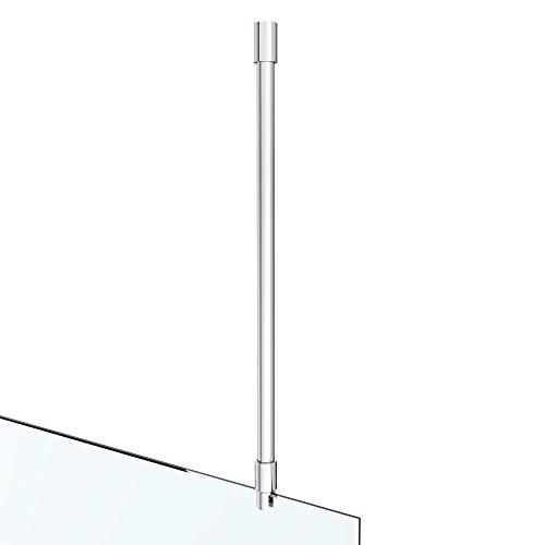 Stabilisationsstange für Duschwand Haltestange Glas Duschen Stabilisierungsstange Deckenhalterung Deckenmontage Rund Verstellung 530-560 mm Glasstärken 8-12 mm Messing verchromt GS35