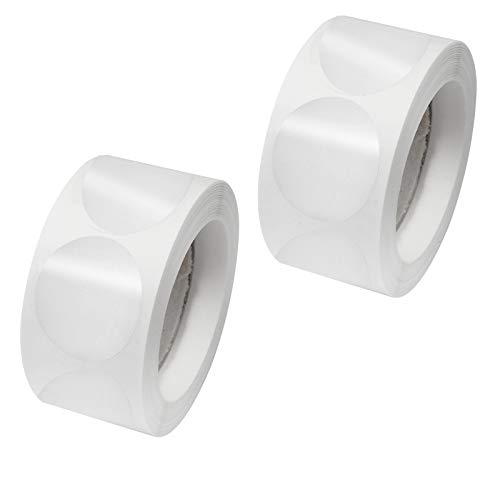 milaosk 1000 Adesivi Rotondi,Etichette Adesive Trasparenti Rotonde per Chiusura Confezioni,Sigillo Trasparente per Imballaggio al Dettaglio Adesivi Rotonde (25mm)