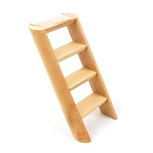 dyudyrujdtry Modieuze 4 Rung Houten Ladder Vogel Budgie Knaagdier Hamster Muis Gerbil kooi Speelgoed 15cm voor Home Decoratie