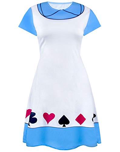 Disney Toy Story Blancanieves Alicia en el país de Las Maravillas Sally Vestidos de Dama para Mujer Vestido Cosplay