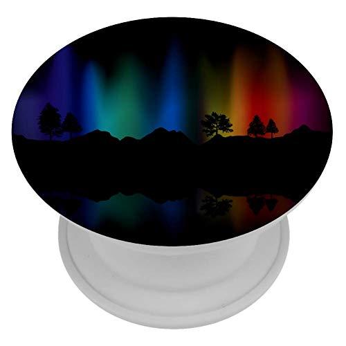 LORVIES - Soporte para teléfono móvil, diseño de luces del norte del arco iris
