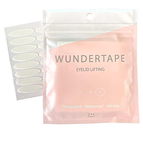 """remedio cintas para párpados ojos caídos WUNDERTAPE""""L"""" (144 unidades) - cinta correctora invisible para párpado caído sin cirugía. eyelid tape"""