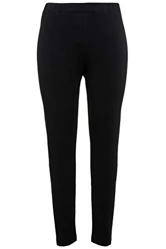 Ulla Popken Große Größen Damen Skinny Leggings 48554810, Gr. 46 (Herstellergröße: 46+), Schwarz (schwarz 10)