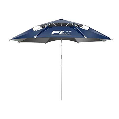 JIY Angelschirme Angeln Regenschirm 2,2 m Universal Regen Klapp Angeln Regenschirm 2,4 Angeln Regenschirm Sonnenschirm Doppel dicken Angeln Regenschirm (Color : Natural, Size : 24m)