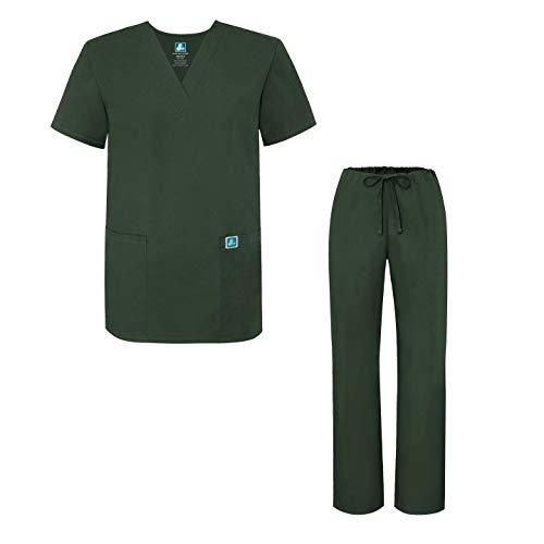Adar Uniforms médicos Unisex - Uniformes médicos Unisex con cordón - 701 - Olive - S